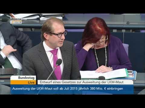 Bundestag: Alexander Dobrindt zur Ausweitung der Lkw-Maut am 05.11.2014