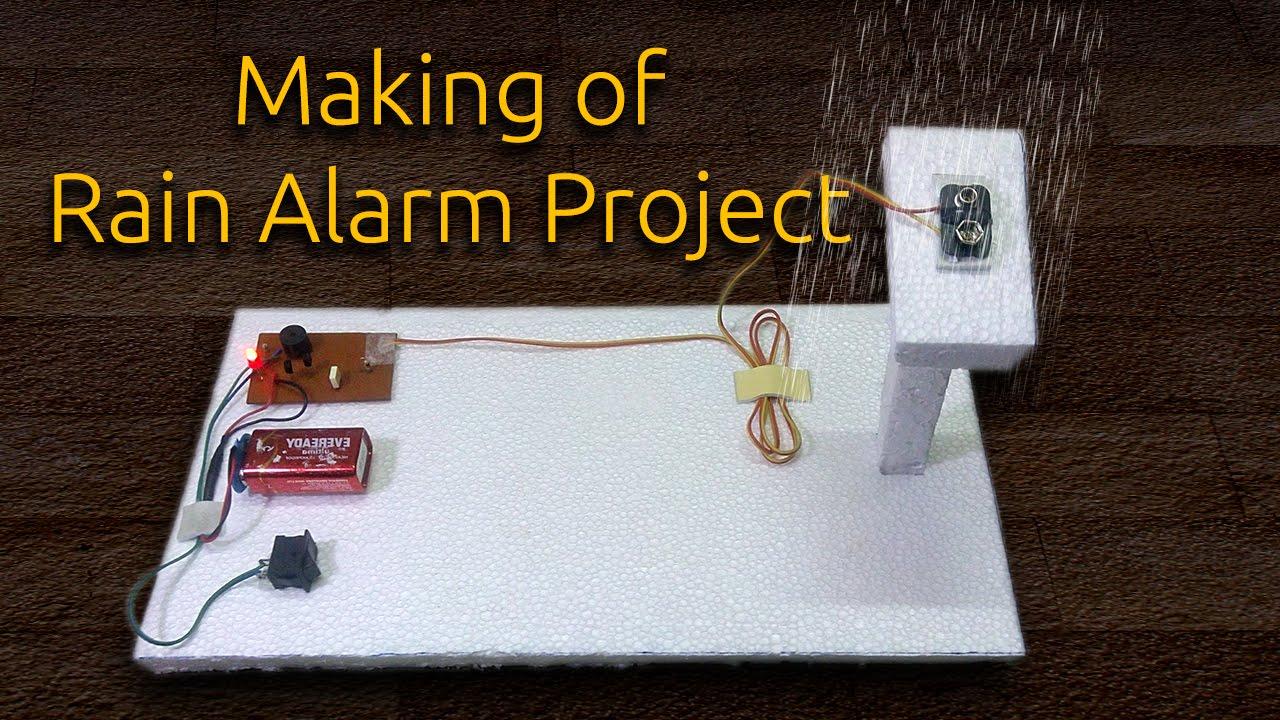 Rain Alarm Sensor Circuit Rain Detector Circuit