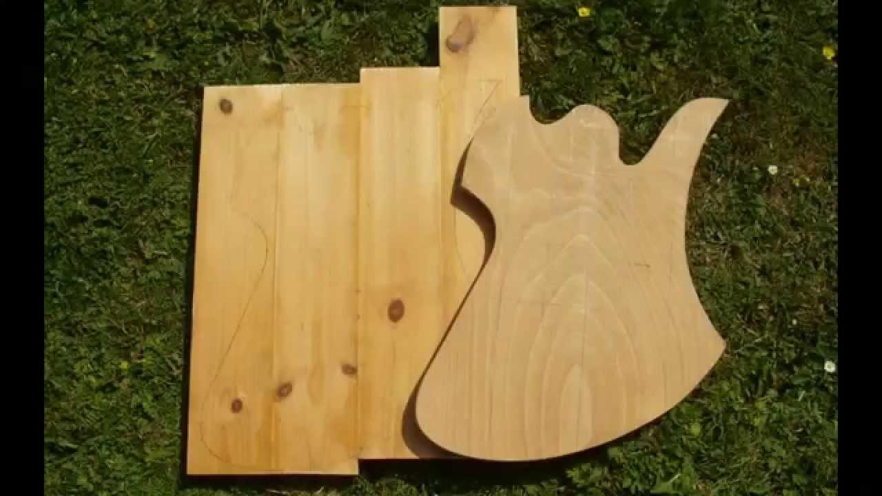 pine plywood mockingbird guitar
