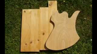 Pine & Plywood Mockingbird Guitar Body Part 1/3