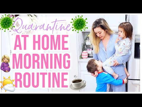 OUR MORNING ROUTINE IN QUARANTINE | ISOLATION SCHEDULE FOR SAHM + HOMEMAKER @Brianna K bitsofbri from YouTube · Duration:  12 minutes