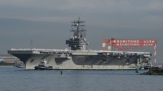 米原子力空母「ロナルド・レーガン」=最新設備搭載、横須賀基地に配備