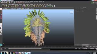 Plant Factory to Maya - Using the FBX Import Script