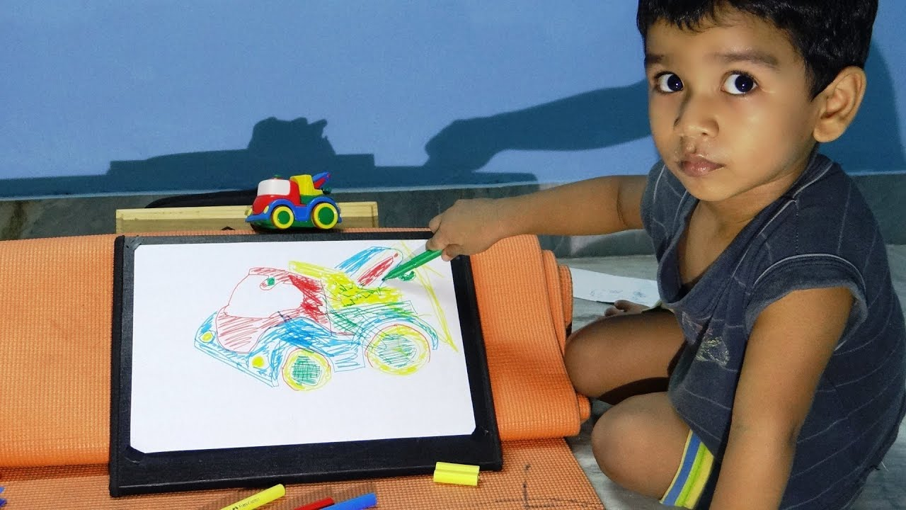 how to teach your kid to draw and identify colors must watch youtube