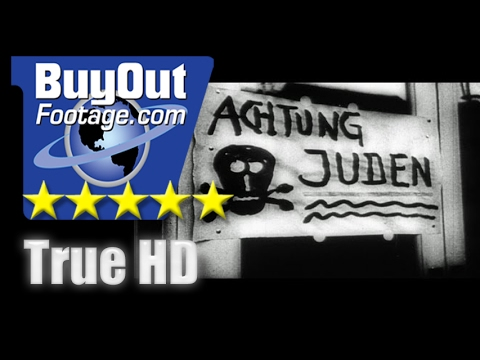 HD Historic Stock Footage WWII Nuremberg Trials Rounding up Jews - Death Camps - Reel 6