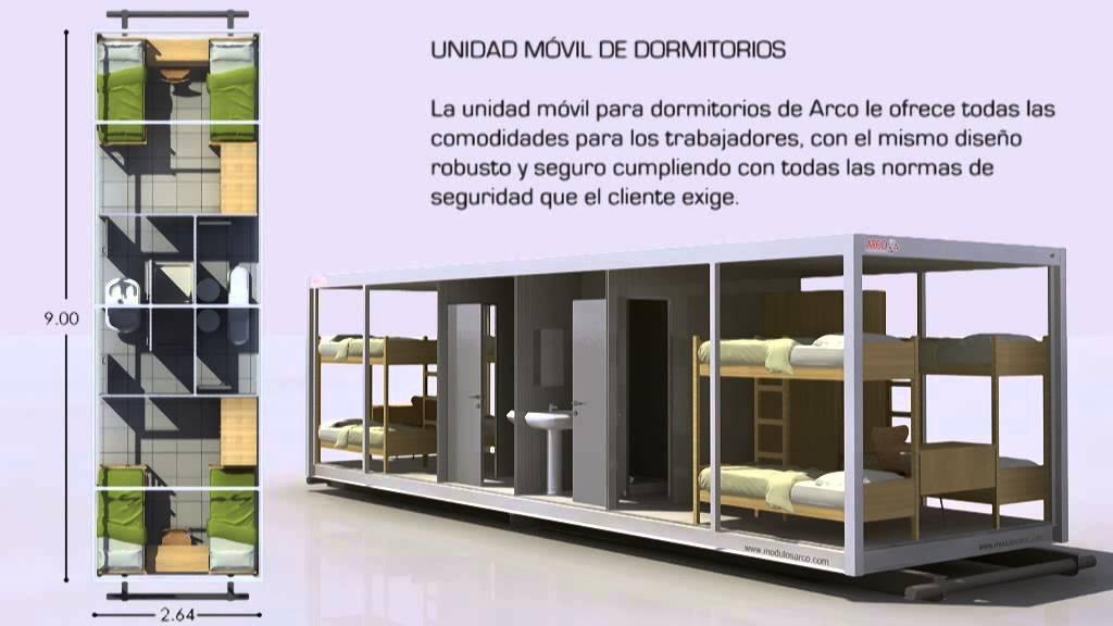 Modulos dormitorios modulos arco construcciones - Modulos de vivienda prefabricados ...