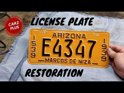 License Plate Restoration - Restoring An Embossed License Plate