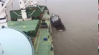 Supply Vessel sinking at Chittagong anchorage