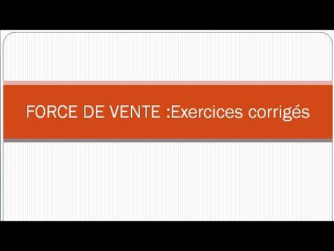 Force De Vente Exercices Corriges Darija Youtube