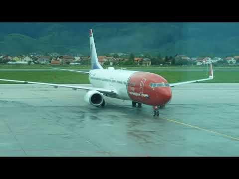 Norwegian Air Shuttle At The Sarajevo International Airport