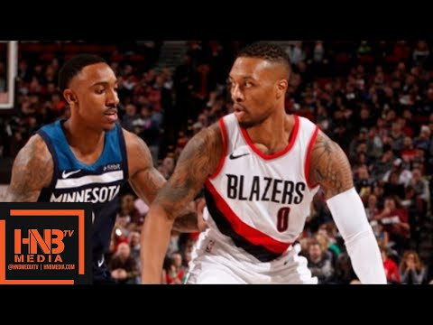 Minnesota Timberwolves vs Portland Trail Blazers Full Game Highlights / Jan 24 / 2017-18 NBA Season