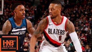 Minnesota Timberwolves vs Portland Trail Blazers Full Game Highlights / Jan 24 / 2017-18 NBA Season