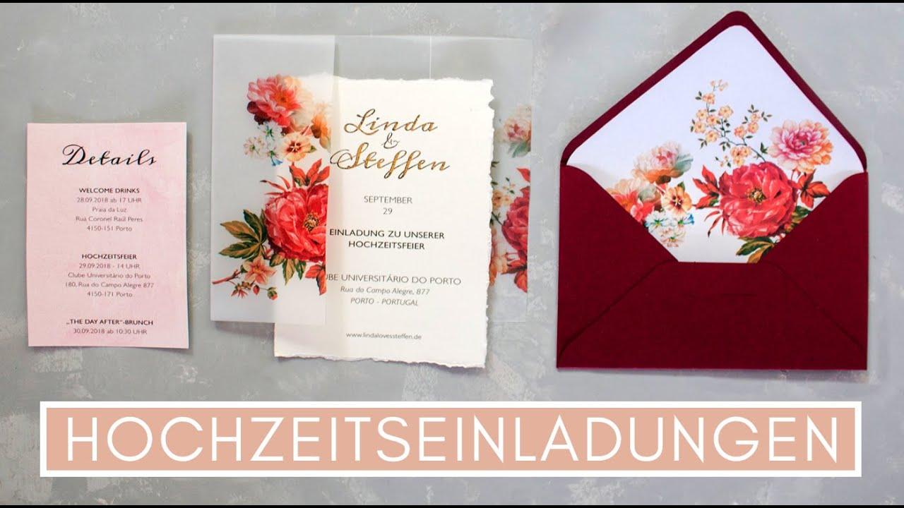 Diy Hochzeitseinladungen Mit Goldfolie Selber Machen