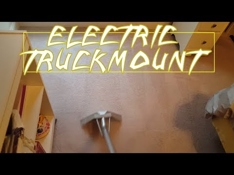 ELECTRIC TRUCKMOUNT TYPICAL CARPET CLEANING JOB