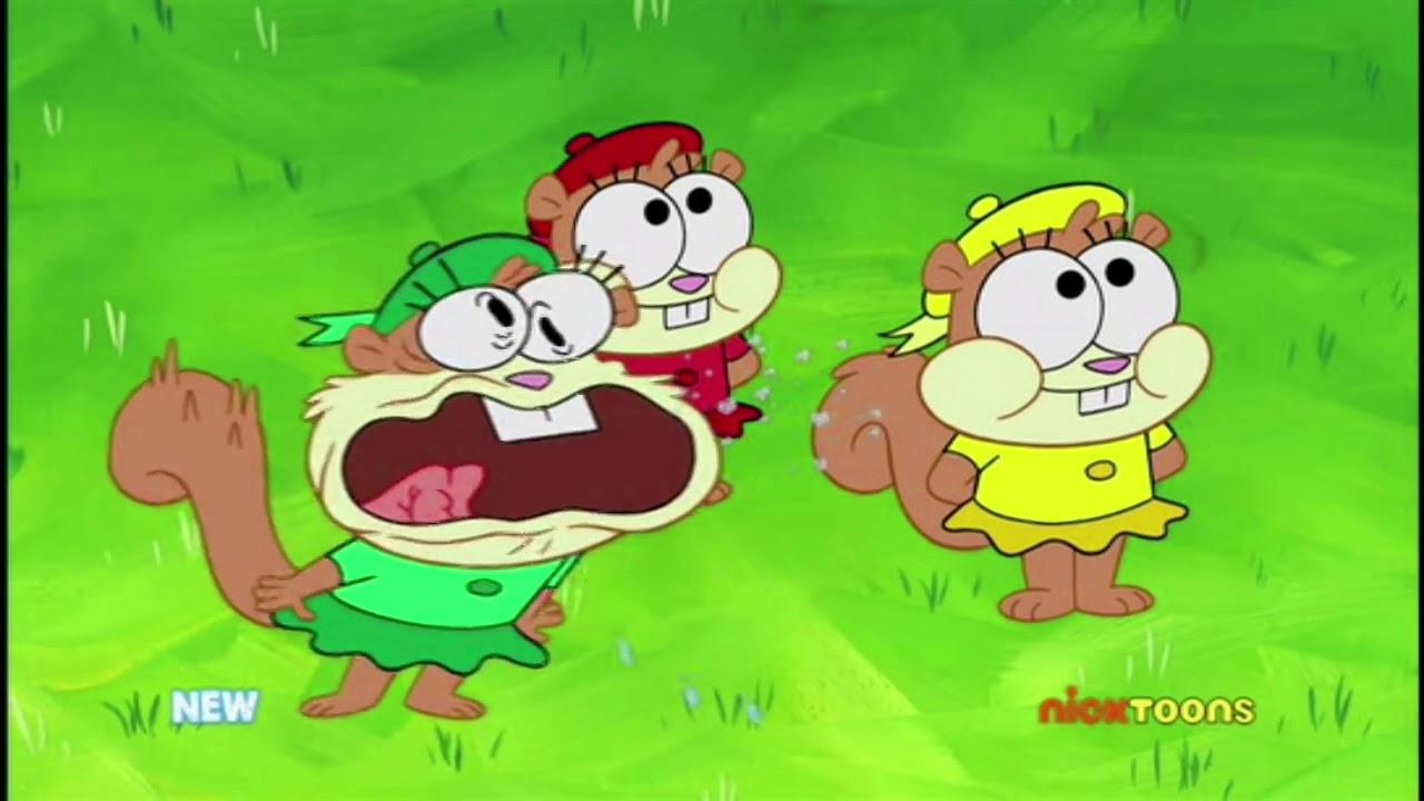 SpongeBob Meets Sandy's Nieces - YouTube