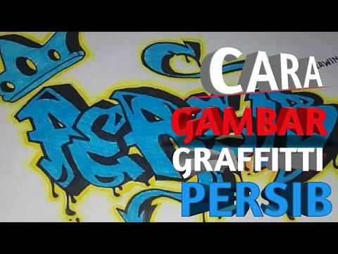 Cara Gambar Graffitti Persib Bandung Keren Part 1 Youtube