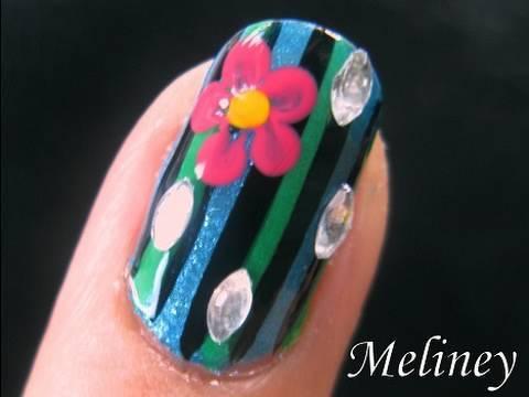 nail art tutorial summer watermelon