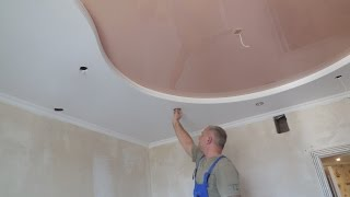 видео Светильники гипсовые для гипсокартонных потолков