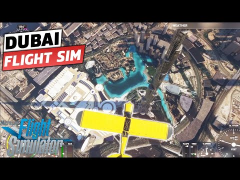 DUBAI – UAE Microsoft Flight Simulator 2020 | Flying Low in DUBAI | 1080p HD