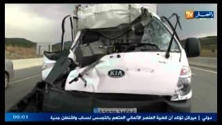 قتيلان و جريح في حادث إصطدام شاحنتين بطريق السيار بسكيكدة