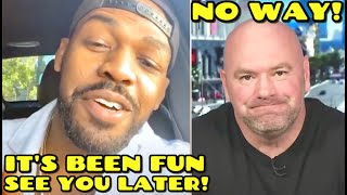 """Jon Jones claims he will RETIRE """"I could retire today I've already done my job!"""", unless UFC pays"""