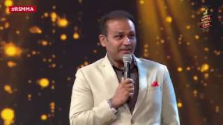 sehwag reveals the song he sang while making 319 at the royal stag mirchi music awards  rsmma