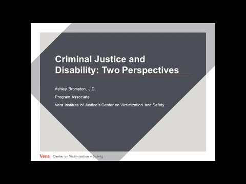 May 2017 - People With Disabilities and the Justice System
