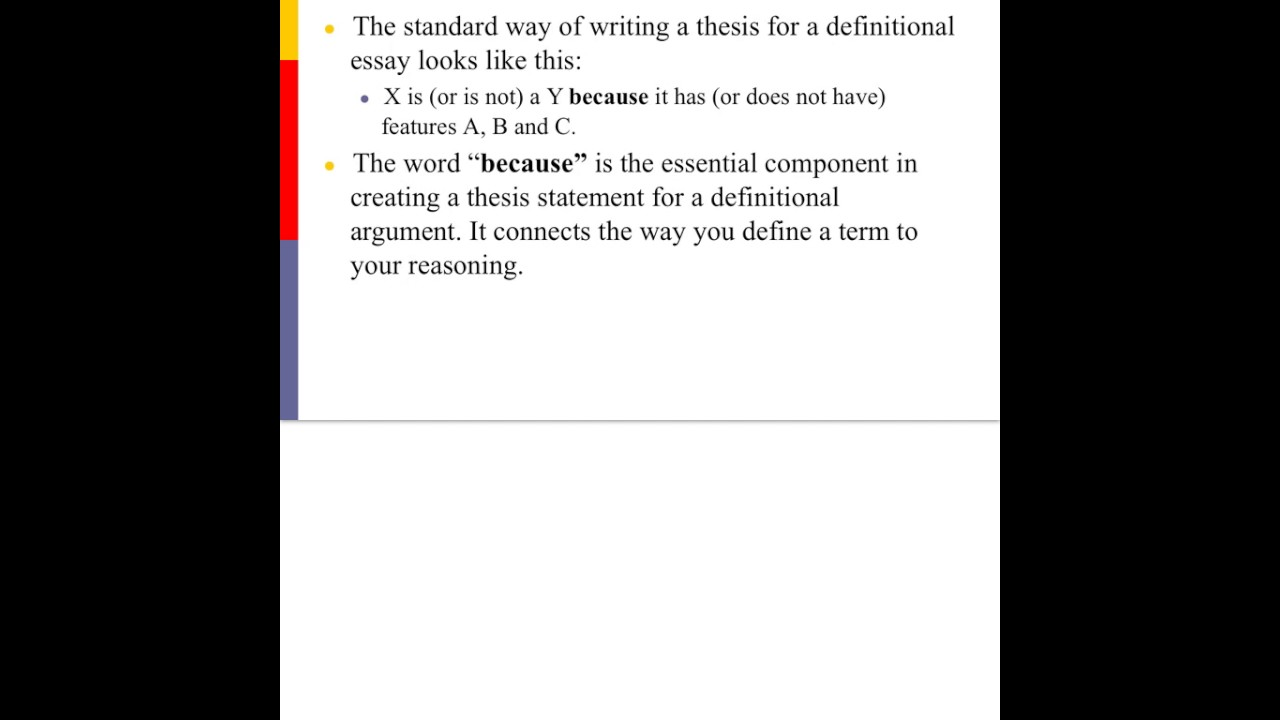 writing definitional arguments thesis statements  youtube writing definitional arguments thesis statements
