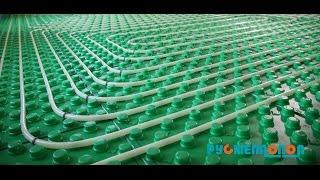 Теплый пол, монтаж системы отопления водяной теплый пол, цемент-песчаная стяжка.(, 2014-10-07T10:31:54.000Z)