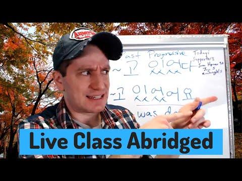 Progressive Tense ~고 있다   Live Class Abridged