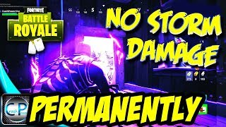 PERMANENT IMMUNITY TO STORM DAMAGE GLITCH - New Fortnite Battle Royale Mythbusters Series