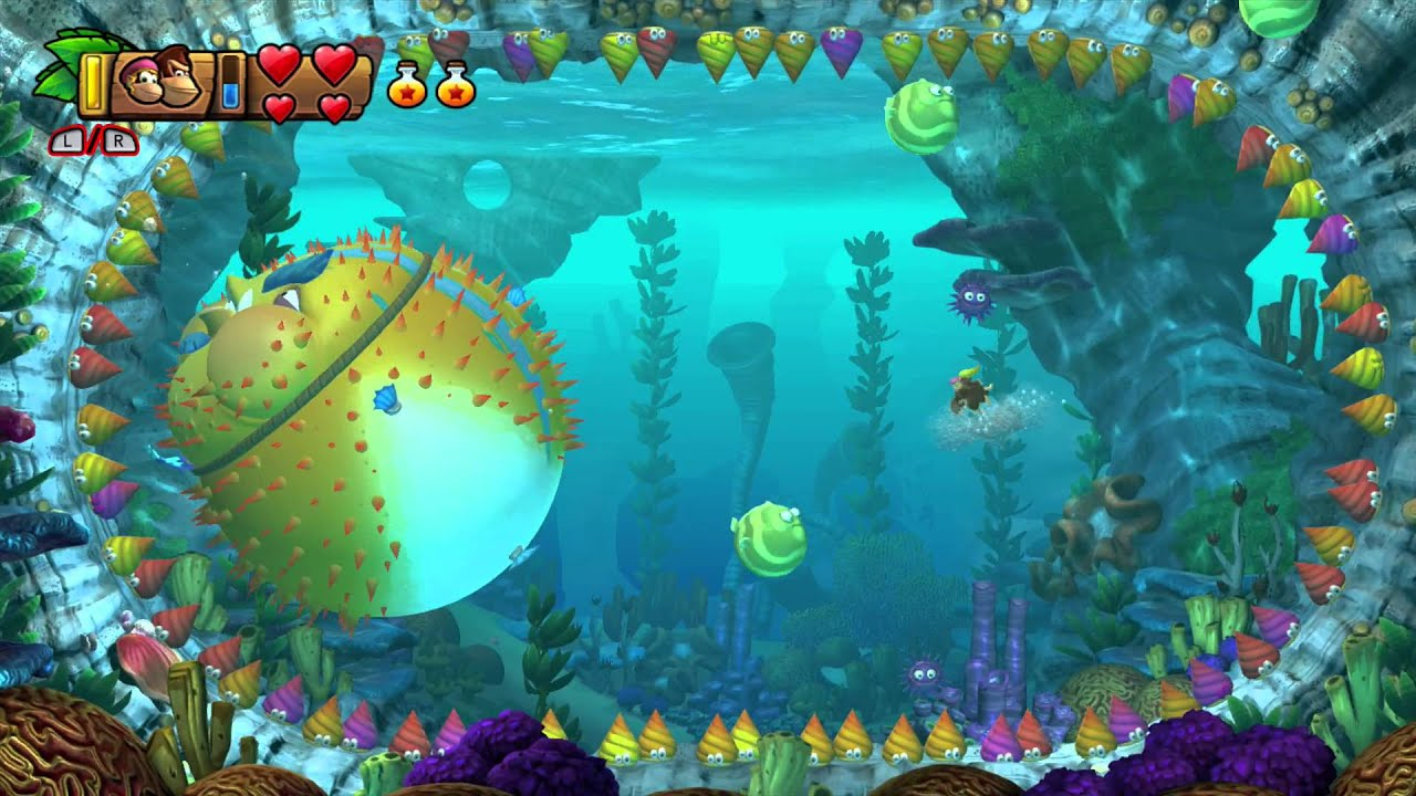 Donkey Kong Country Returns Enemies Fishes