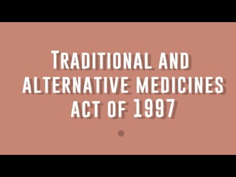 Traditional and Alternative Medicines Act of 1997
