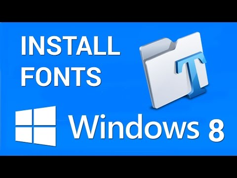 How to install Fonts in Windows 8 - YouTube
