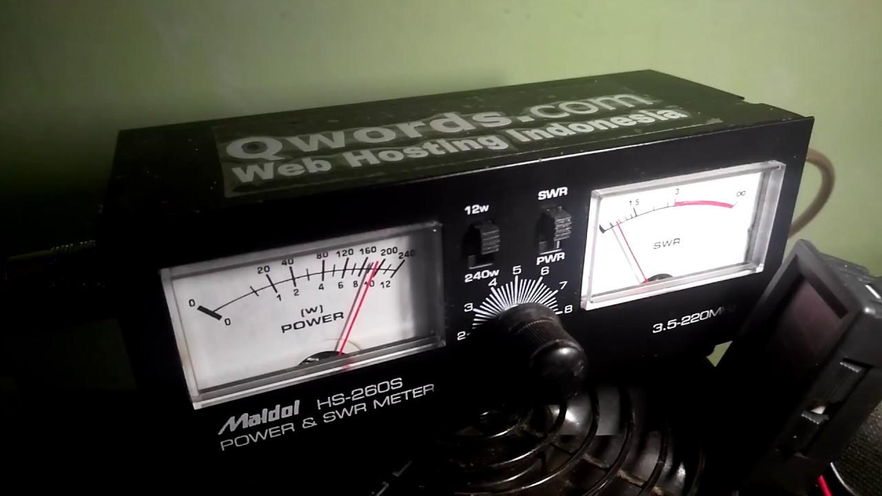 Matching antena menggunakan swr meter maldol hs-260s - motorola gm3188 uhf  #swr #maldol #motorola