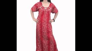 Indiatrendzs Womens Designer Hosiery Cotton Printed Nighty
