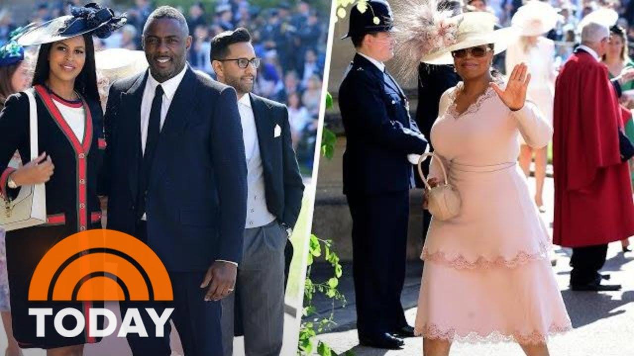 Royal Wedding Idris Elba Oprah Winfrey More Arrive At Windsor Castle Today