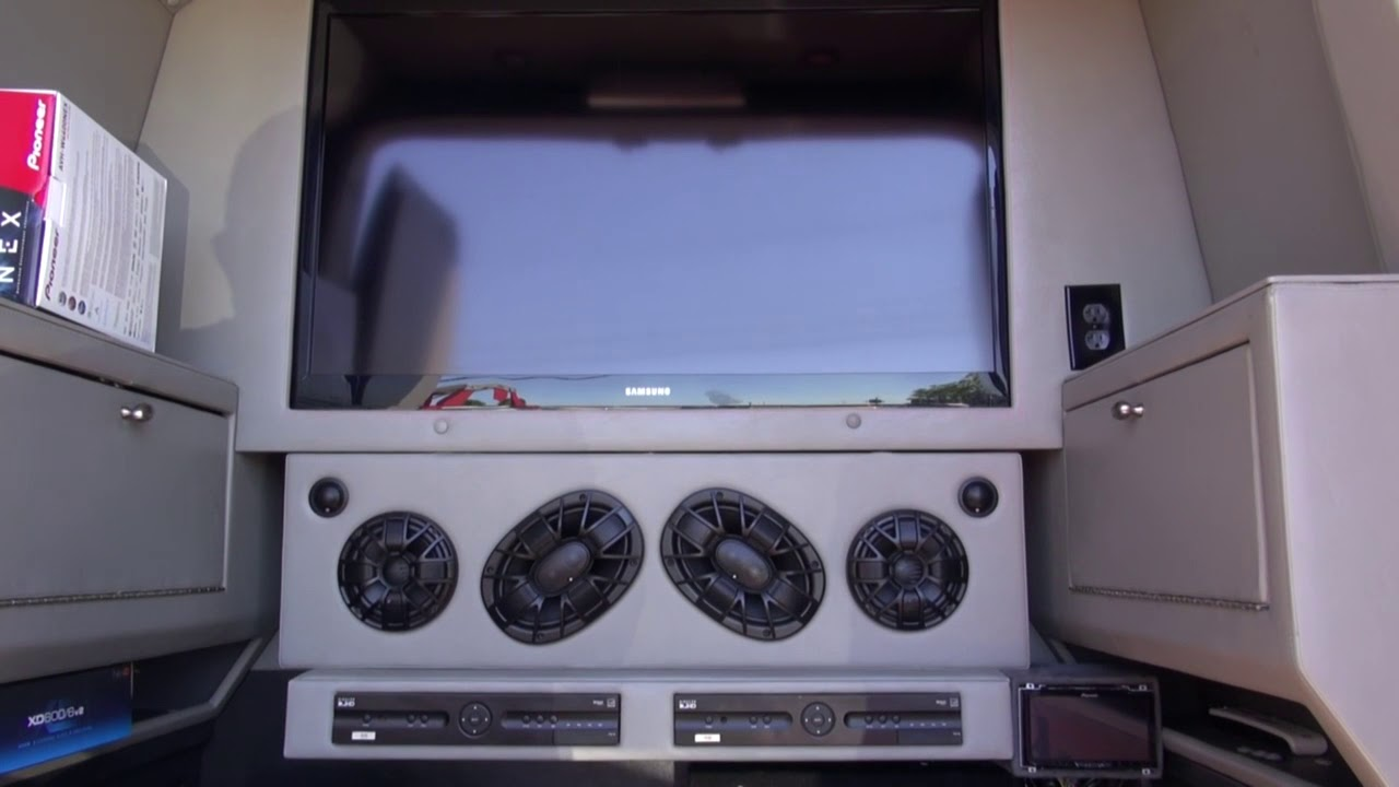 Mercedes Splinter Van with a Complete Audio Video System by Monney
