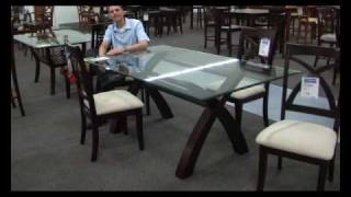 Glass Top Dining Room Set P2040