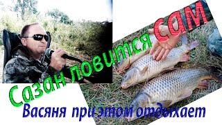 Грамотная рыбалка на сазана. Почти дикая природа. Всем смотреть: необычный  Сюрприз для рыбаков!!!!