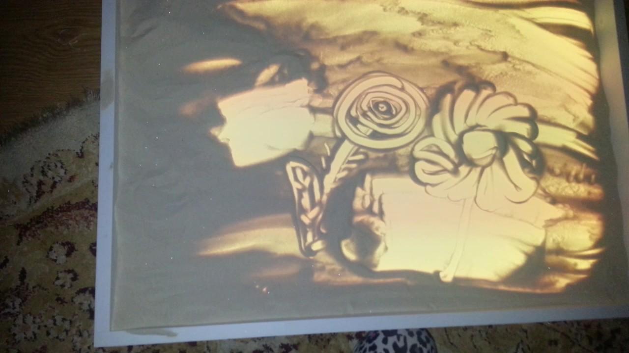 За 4 декады техника получила несколько витков развития и адаптировалась для детских ручек. В украине набирают популярность картинки с контурами на липкой основе, которые засыпают песком яркого цвета. В отличие от первоначально варианта, дети знают, какую часть нужно «зарисовывать».