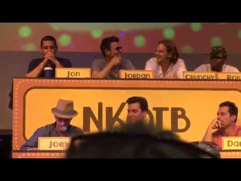 NKOTB Cruise 2015 Game show group B #justthetip #jonscockring