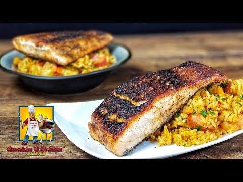 Blackened Salmon   Seafood Jambalaya