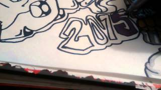 How to draw a graffiti spraycan character