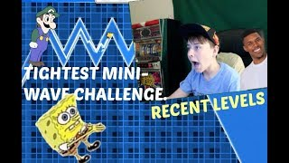 THE TIGHTEST MINI WAVE CHALLENGE?!   ChrisCredible Attempts Recent Levels P.1   Geometry Dash