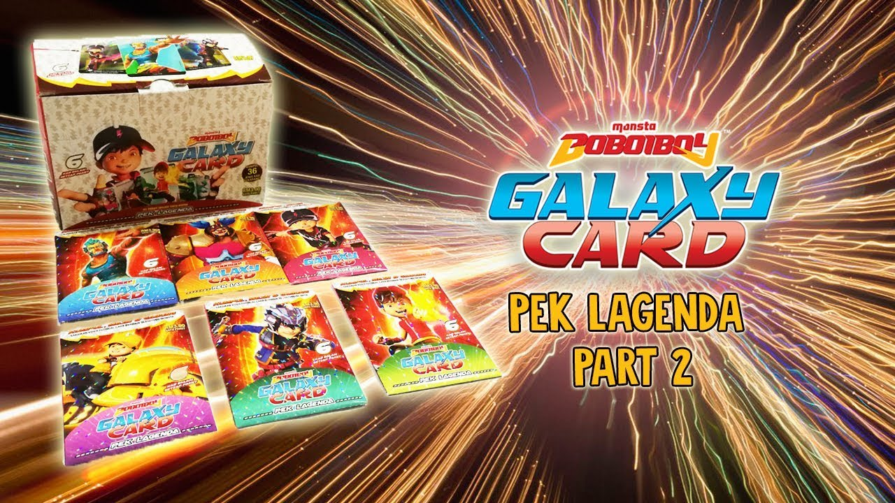 Kapten Kaizo Pek Lagenda Part 2 Official Boboiboy Galaxy Card