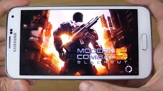 Modern Combat 5 Samsung Galaxy S5 4K Gaming Review