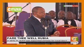 President Uhuru Kenyatta's speech at the late Charles Rubia's funeral