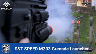 S&T SPEED 40mm M203 Airsoft Grenade Launcher - Airsoft Evike.com