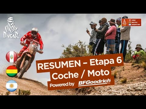 Resumen - Coche/Moto - Etapa 6 (Arequipa / La Paz) - Dakar 2018